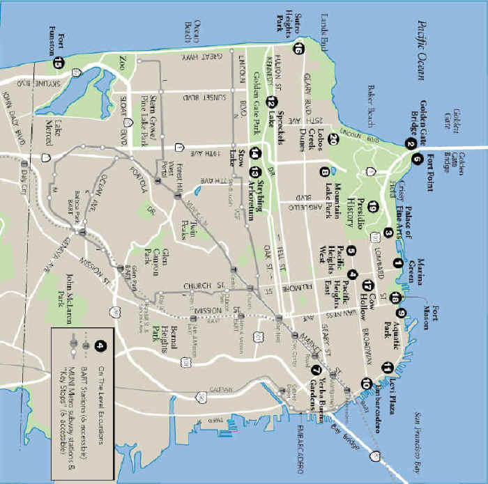 image about San Francisco Maps Printable named San Francisco Upon The Place Printable Map